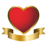 Heart Emblem Royalty Free Stock Photo