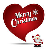Heart embroidery christmas vector Stock Images