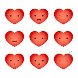 Heart emoji set one Royalty Free Stock Photos