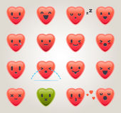 Heart Emoticons Stock Photo