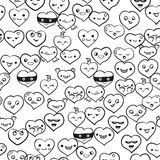 Heart emotions set. Vector background Royalty Free Stock Images