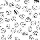 Heart emotions set. Vector background. Heart emotions set. Vector illustration hand drawn background Royalty Free Stock Photo