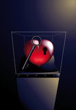 Heart enclosed. With her key royalty free illustration