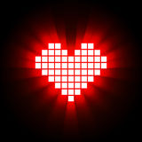 Heart energy, health concept. Vector illustration Royalty Free Stock Photo