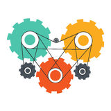 Heart engine working concept vector design Stock Photo