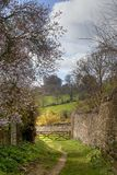 Heart of England Way. The Heart of England Way in Spring, Cotswolds, Gloucestershire, England royalty free stock photography