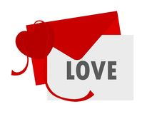 Heart an envelope Royalty Free Stock Photo
