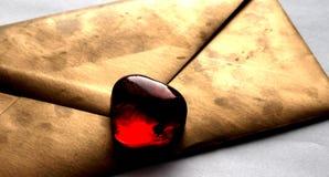Heart_Envelope Fotografia Stock