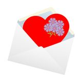 Heart in the envelope. Stock Images