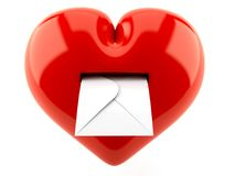 Heart with envelope Royalty Free Stock Image