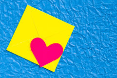 Heart envelope Royalty Free Stock Images