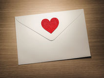 Heart on envelope Stock Photo