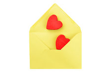 Heart and envelope Stock Image