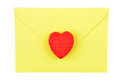 Heart and envelope Royalty Free Stock Photography