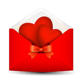 Heart in the envelope Stock Image