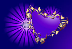 Heart in an environment of a vegetative ornament Royalty Free Stock Images