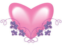 Heart in an environment of a vegetative ornament Royalty Free Stock Photography