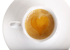 Heart on Espresso Stock Photo