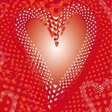 Heart explosion background Royalty Free Stock Photography