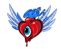 Heart with eye Royalty Free Stock Photo