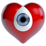 Heart eye composition. 3d rendering, surreal Stock Photos