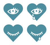 Heart and eye icons Royalty Free Stock Photos