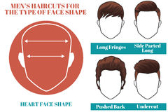 Heart face shape Stock Images