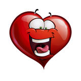Heart Faces Happy Emoticons - LOL Royalty Free Stock Image