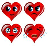 Heart Facial Expressions Royalty Free Stock Photos