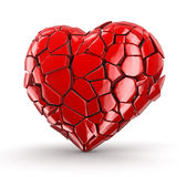 Heart falls apart (clipping path included) Stock Photo