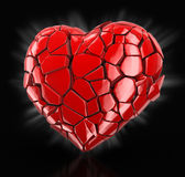 Heart falls apart (clipping path included) Royalty Free Stock Images