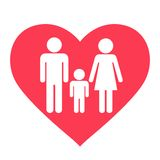 Heart family icon Stock Images