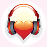 Heart-family-music Stock Image