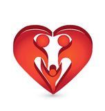 Heart family shape logo Royalty Free Stock Photo