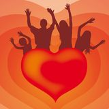 Heart and family (vector) Royalty Free Stock Photography