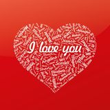 Heart from famous woman's names with title. Valentines day. () Stock Photography