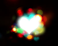 Heart and fantasy light Stock Images