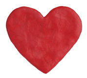 Heart, fashioned from red clay Stock Photography
