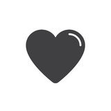 Heart, favorite icon vector, filled flat sign, solid pictogram isolated on white. Royalty Free Stock Photo