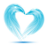 Heart from feathers on white background Royalty Free Stock Photo