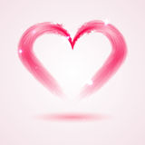 Heart from feathers on white background Stock Photography