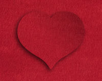 Heart of felt Royalty Free Stock Images