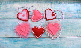 Heart Felt souvenir for Valentine`s Day Royalty Free Stock Photography
