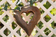 Heart on fence Royalty Free Stock Photo