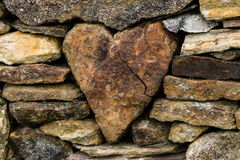 Heart in the fence. Heart in the stone fence, Hebrides Stock Photo