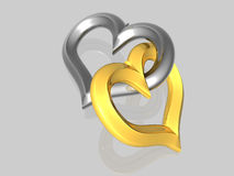Heart few - isolated - 3D Royalty Free Stock Photo
