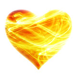 Heart - fiery background Royalty Free Stock Photos