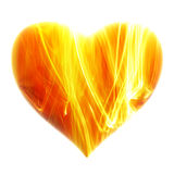 Heart - fiery background Stock Photos
