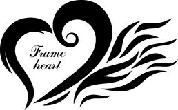 Heart. The fiery heart of frame designs Royalty Free Stock Images