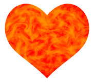 Heart. Fiery heart for the Valentine day Stock Photography